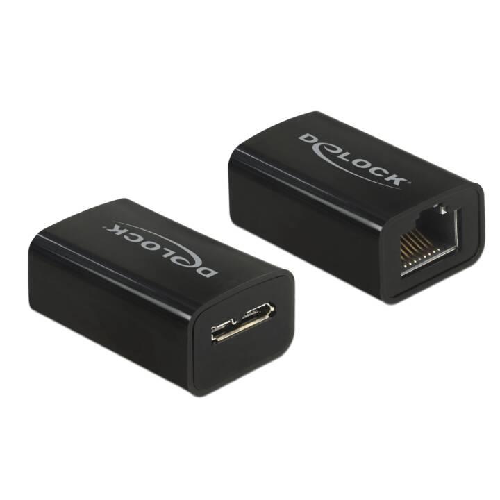 DELOCK USB3.1-MicB Adaptateur (RJ-45, USB 3.0 Type-B, 50 cm)