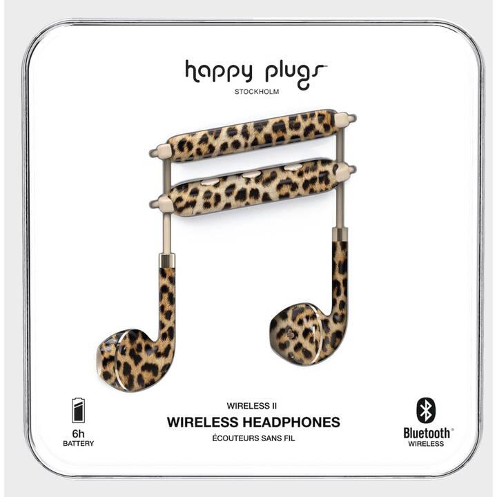 HAPPY PLUGS Wireless II Leopard (In-Ear, Bluetooth, Marrone, Multicolore)