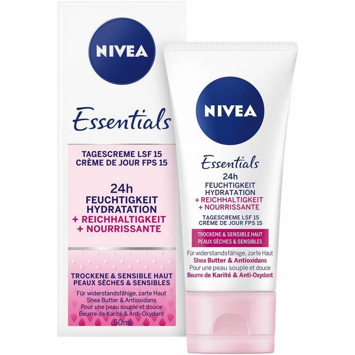 NIVEA Essentials Feuchtigkeit + Reichhaltigkeit Tagescreme 50 ml