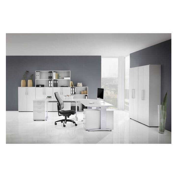 OFFICE AKKTIV Nicola (Weiss, Silber, 120 cm x 80 cm x 72 cm)
