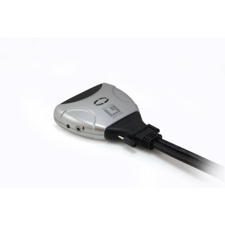 Interruttore KVM/audio LEVELONE, 2 connettori