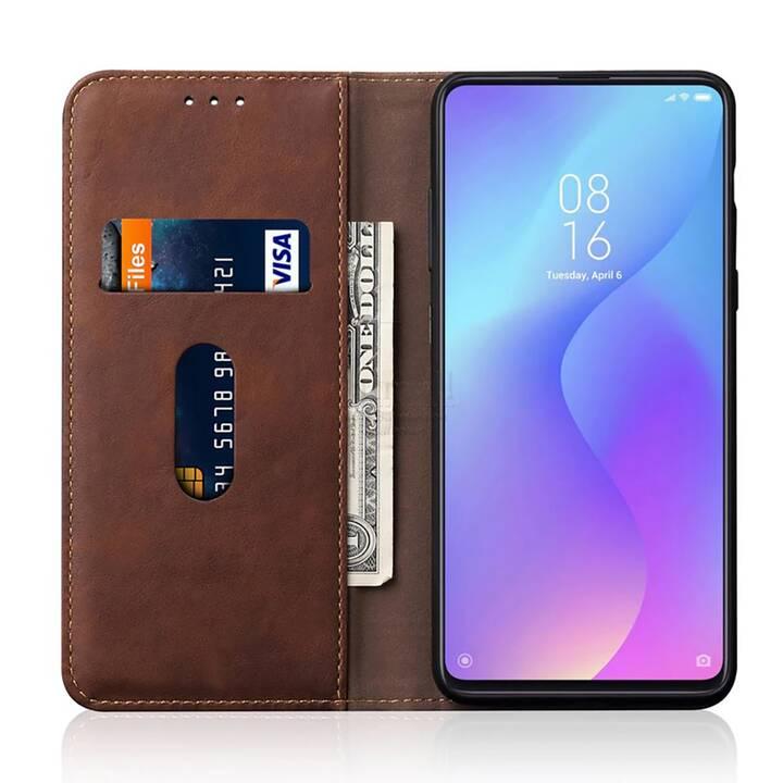 EG Mornrise Etui portefeuille pour Huawei P30 Lite - Brun foncé