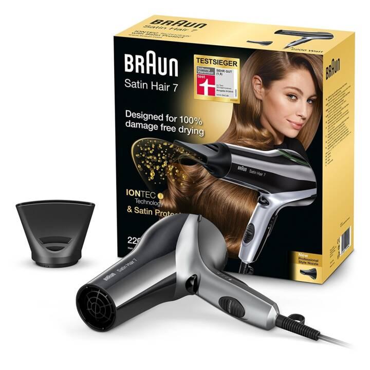 Braun Satin Hair 7 Iontec HD 710 Asciugacapelli Con Tecnologia A Ioni 2200W Nero