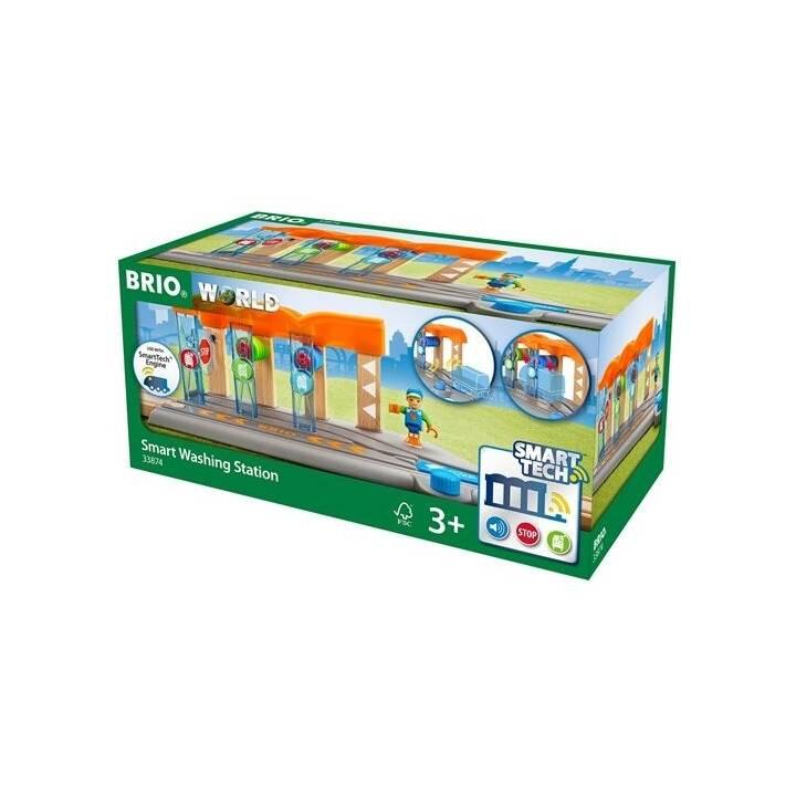 BRIO Smart Tech Waschanlage für Züge Spieleisenbahn Zubehör