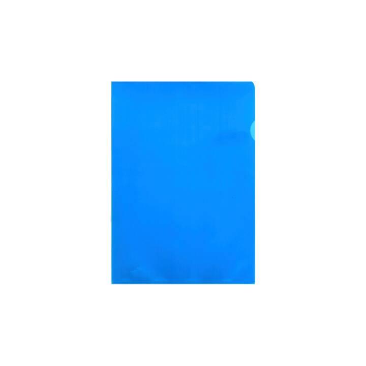 BÜROLINE Sichtmappen A4 blau matt 10 Stück