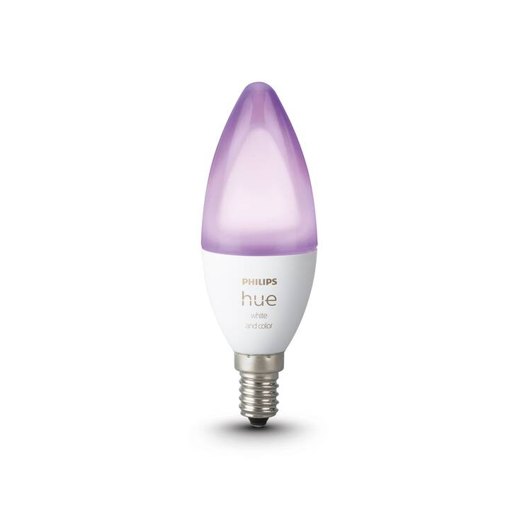PHILIPS HUE LED Birne White & Color Ambiance BT (E14, Bluetooth, 5.3 W)