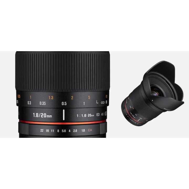Objectif SAMYANG 20mm f / 1.8 ED AS UMC UMC UMC Sony E