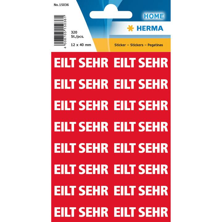 HERMA Eilt seh Ettiquettes (A4, 2 x 40 mm, 20 feuille)