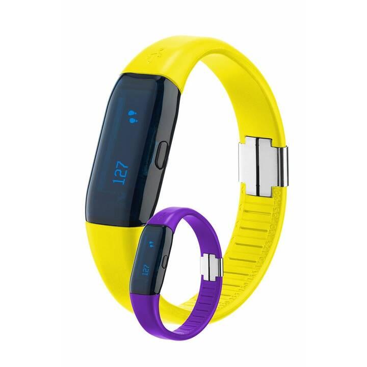 TRISA Schrittzähler 3D Activity Tracker (Gelb, Violett)