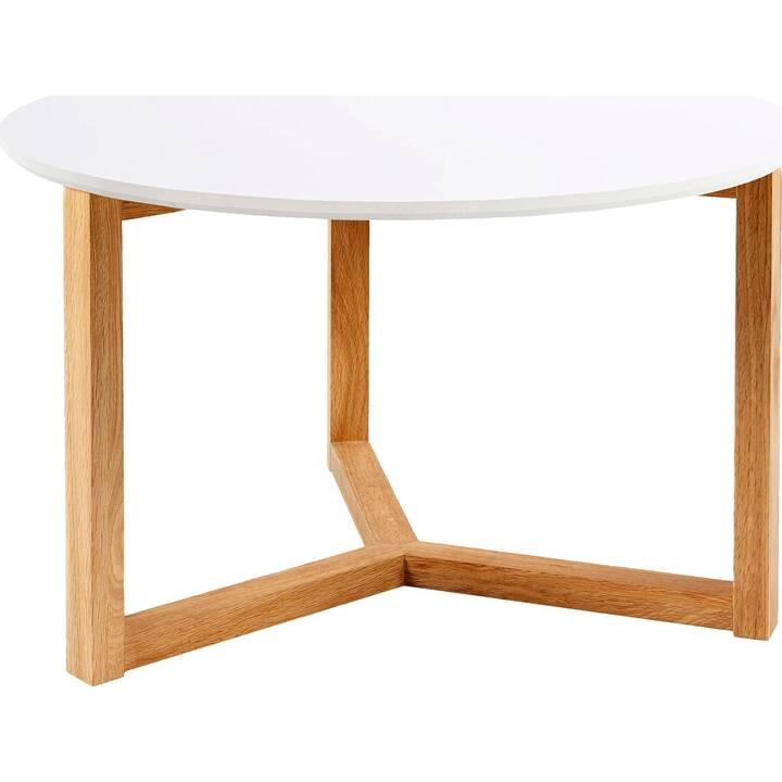 CREATIVE LIVING Table de salon Kyoto (40 cm, Blanc)