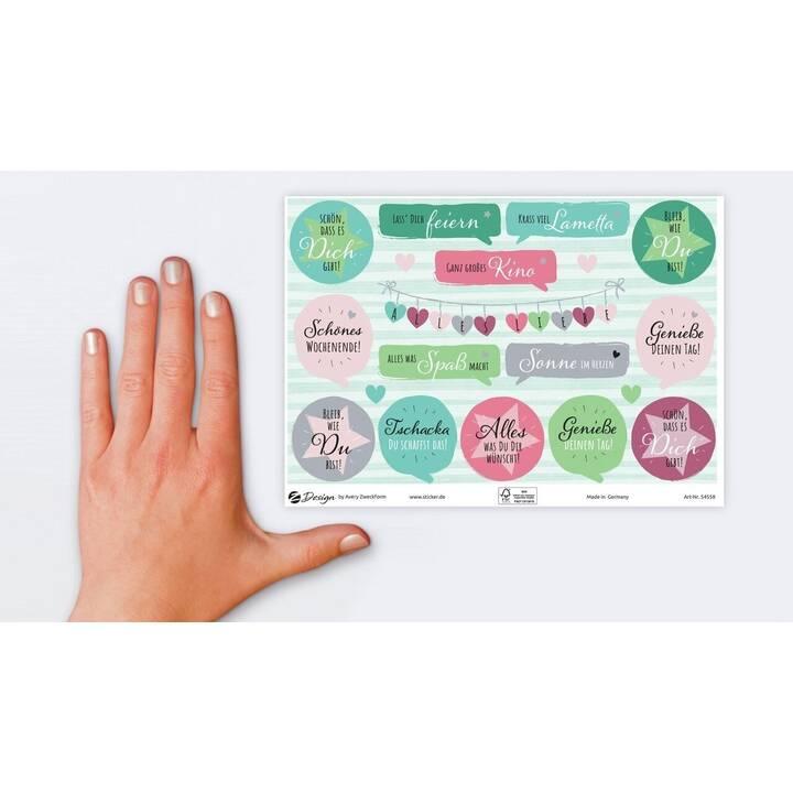 AVERY ZWECKFORM Sticker 54558Z (Kreis, Text)