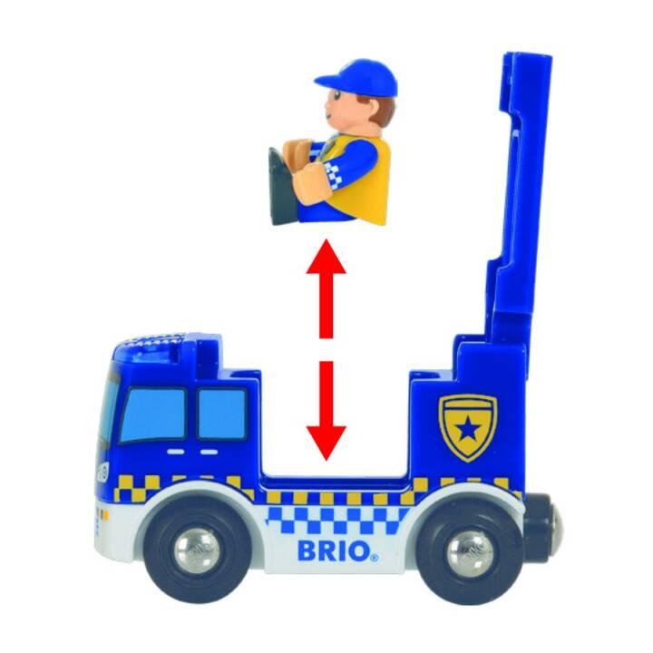 Stazione di polizia BRIO con veicolo di emergenza