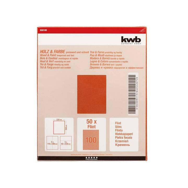 KWB Fogli di carta abrasiva (100, 1 pezzo)