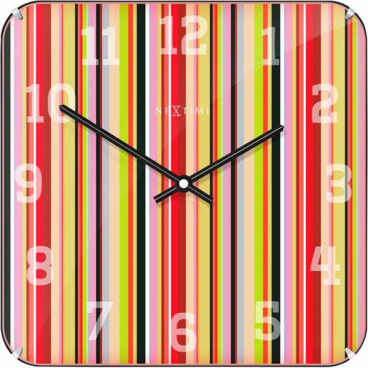NEXTIME Horloge murale Smithy Dome Square Multicolore