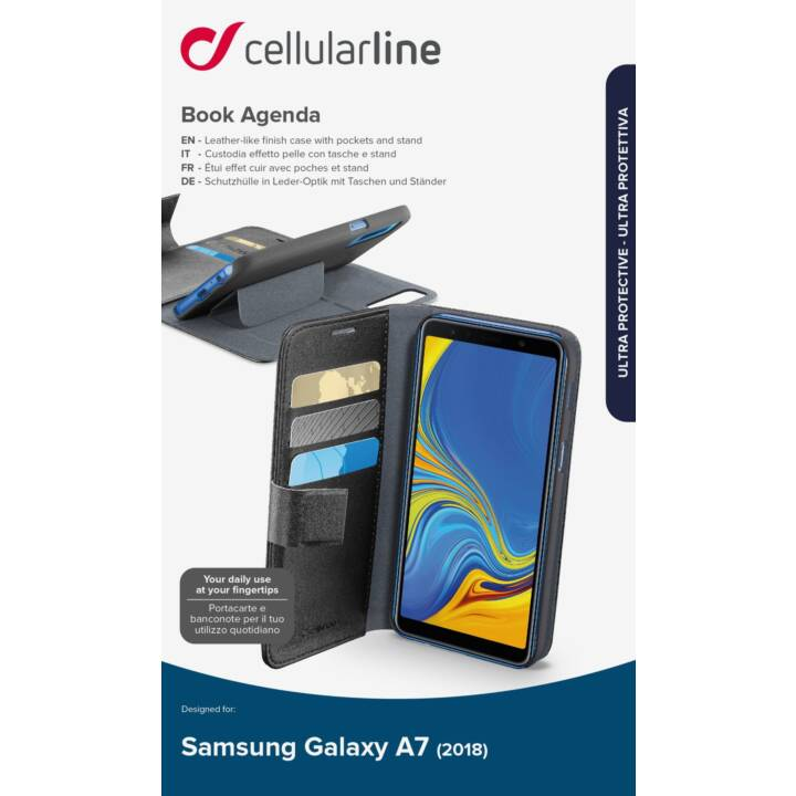 CELLULAR LINE BOOKAGGALA72018K für Galaxy A7 2018