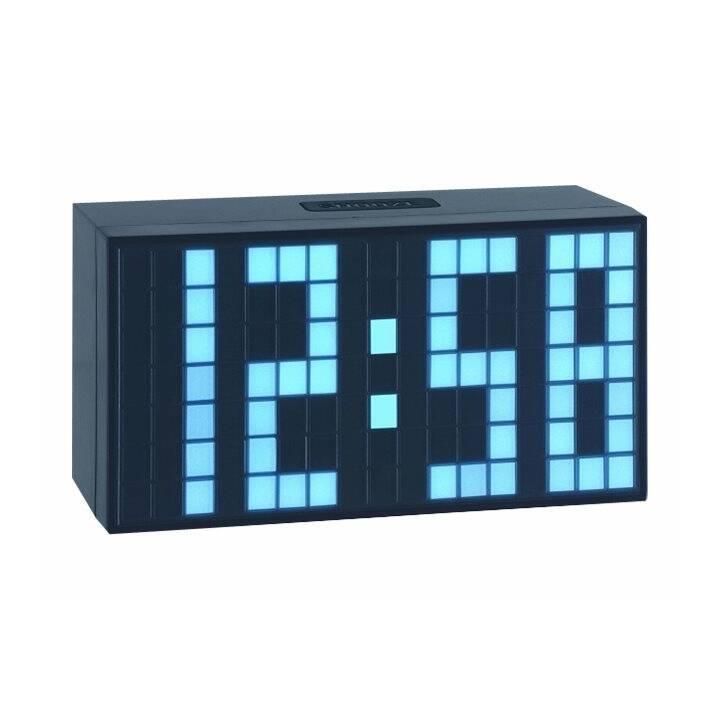 TFA Dostmann Quarzuhr Time Block weiss