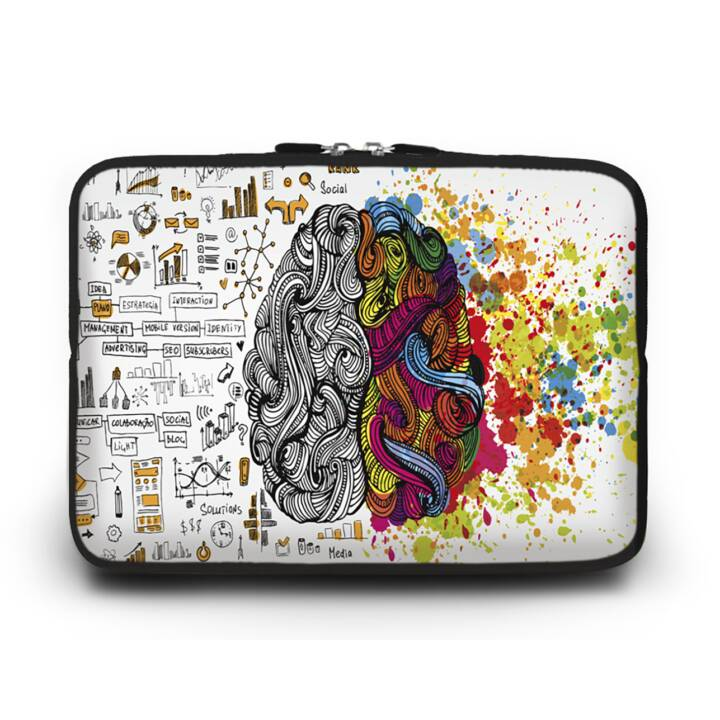 """EG HUADO Housse d'ordinateur portable pour 12"""" - Cerveau"""