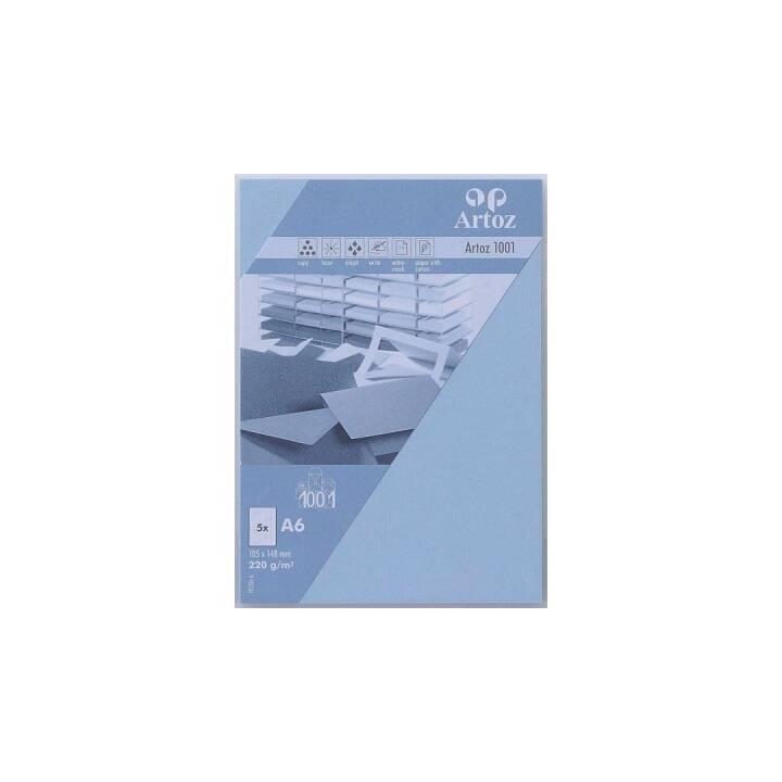 ARTOZ Biglietto in bianco (Universale, A6, Blu)