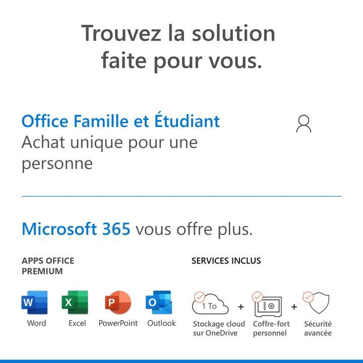MICROSOFT Office Famille & Étudiant 2019 (Versione completa, 1x, Francese)