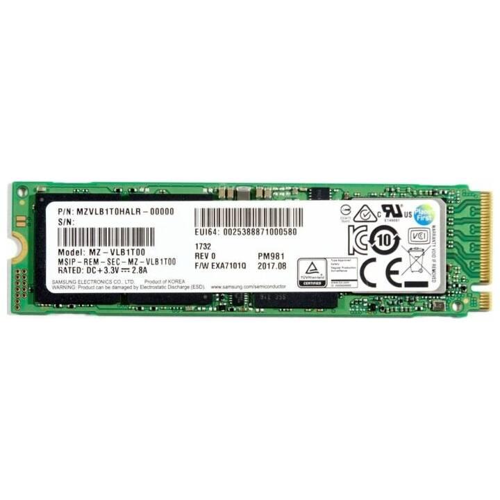 SAMSUNG PM981 (PCI Express, 512 GB, Verde)