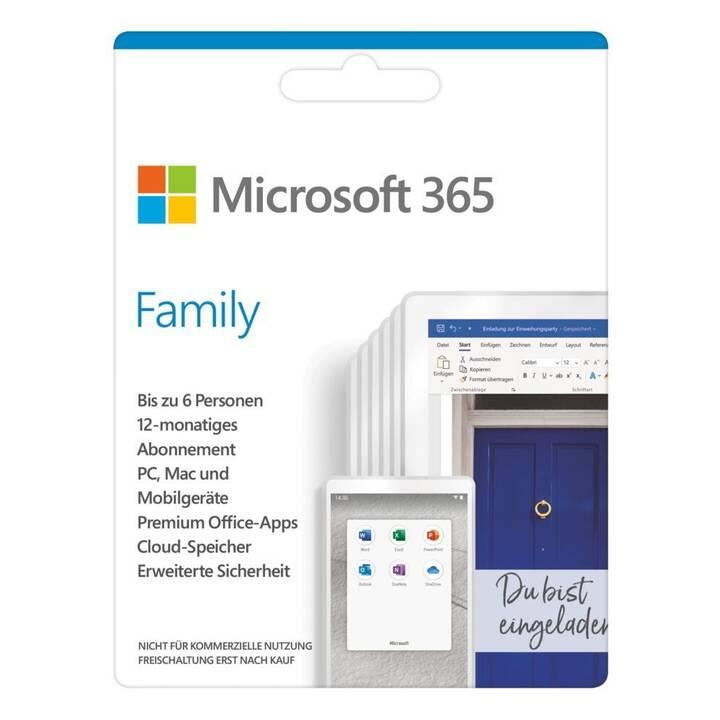 MICROSOFT 365 Family (Abo, 6x, 1 Jahr, Deutsch)