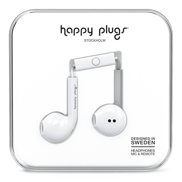 HAPPY PLUGS EARBUD PLUS WHITE (In-Ear, Bianco)