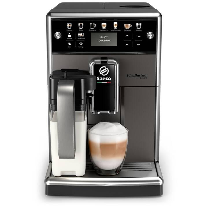 SAECO PicoBaristo Deluxe (Anthracite, Noir, 1.8 l, Machines à café automatique, 2 Tasses)