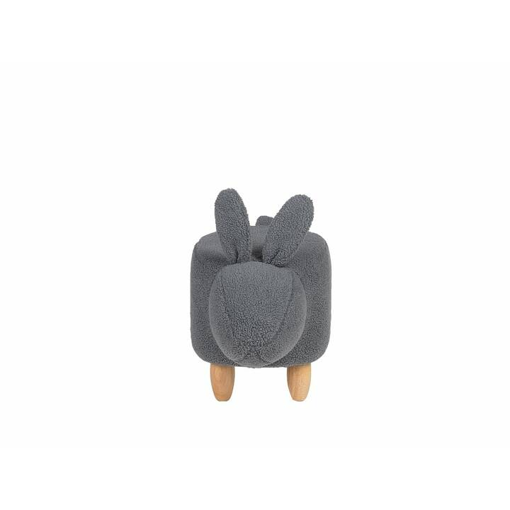 BELIANI Bunny Sitzhocker (Grau)