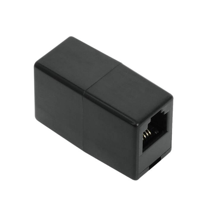 HAMA Adaptateurs 00044854 (Noir, RJ-12)