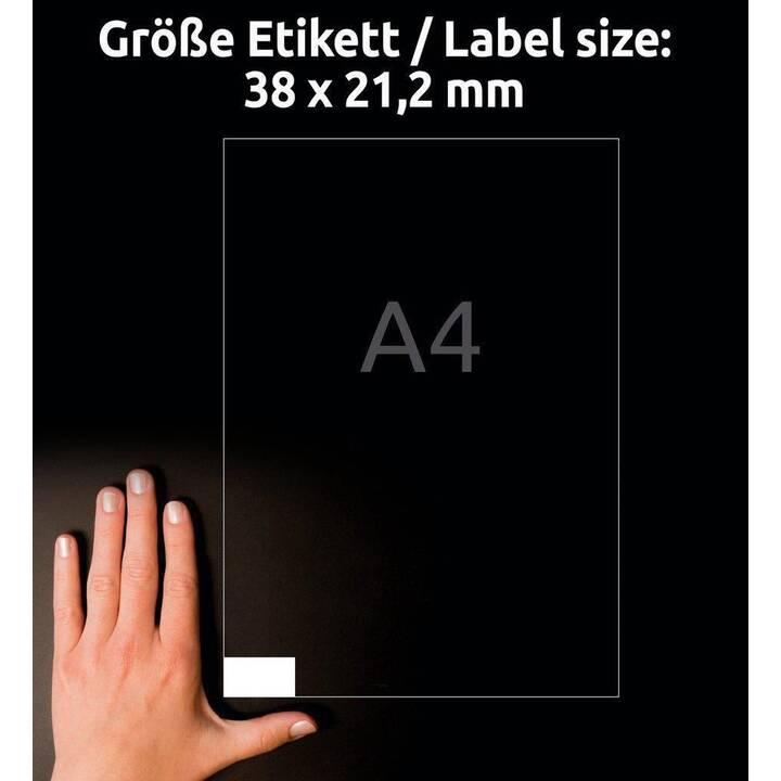 AVERY ZWECKFORM 6121 ultragrip Etichette (A4, 38 x 21.2 mm, 30 foglio)