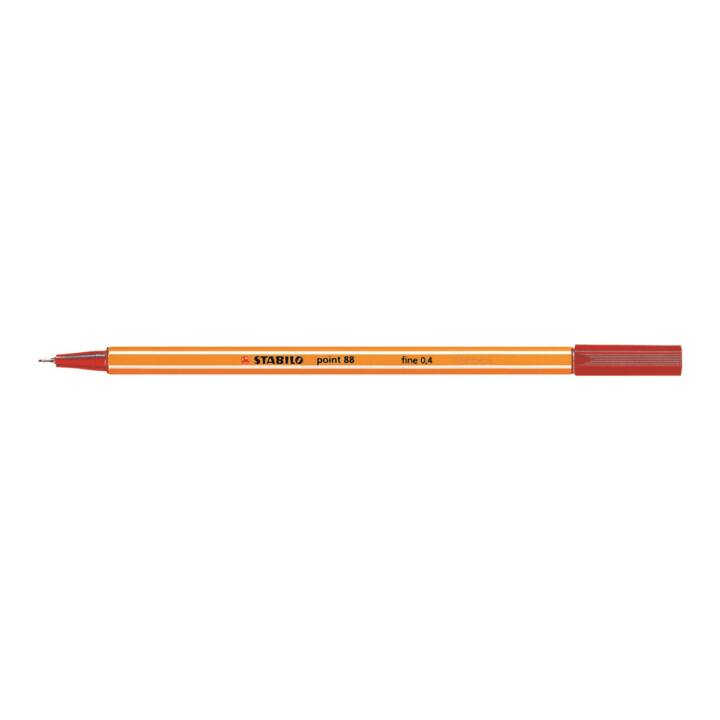 STABILO Fine Pen Point 88 0,4mm rosso