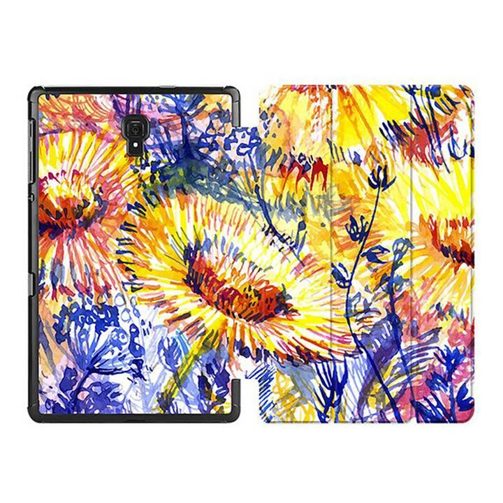 "EG MTT Custodia per Samsung Galaxy Tab A 8"" 2019 SM-T290/T295/T297 - Fiore giallo"