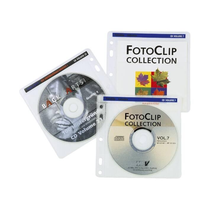 HAMA pochettes CD/DVD/BD avec perforation, 40 pièces