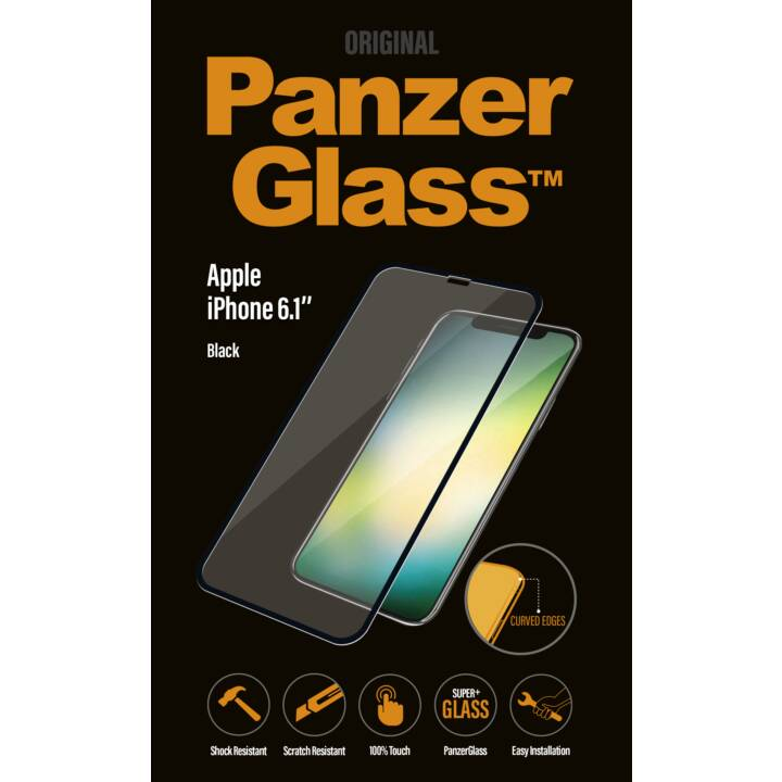 PANZERGLASS Displayschutzglas iPhone XR (Hochtransparent, Kristallklar)