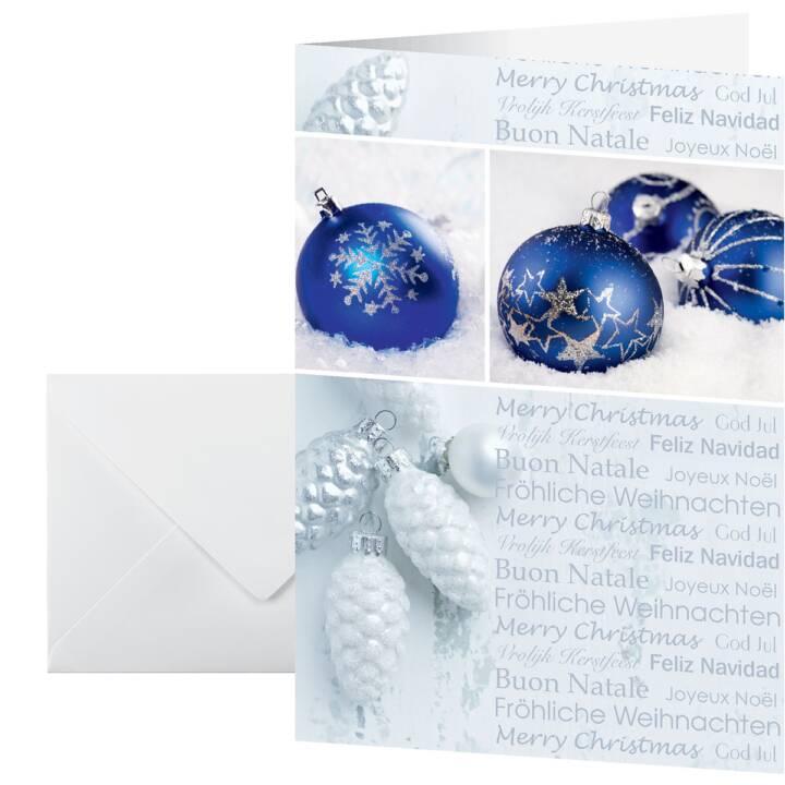SIGEL Cartolina di Natale Seasons Greetings Set (A6, Blu)