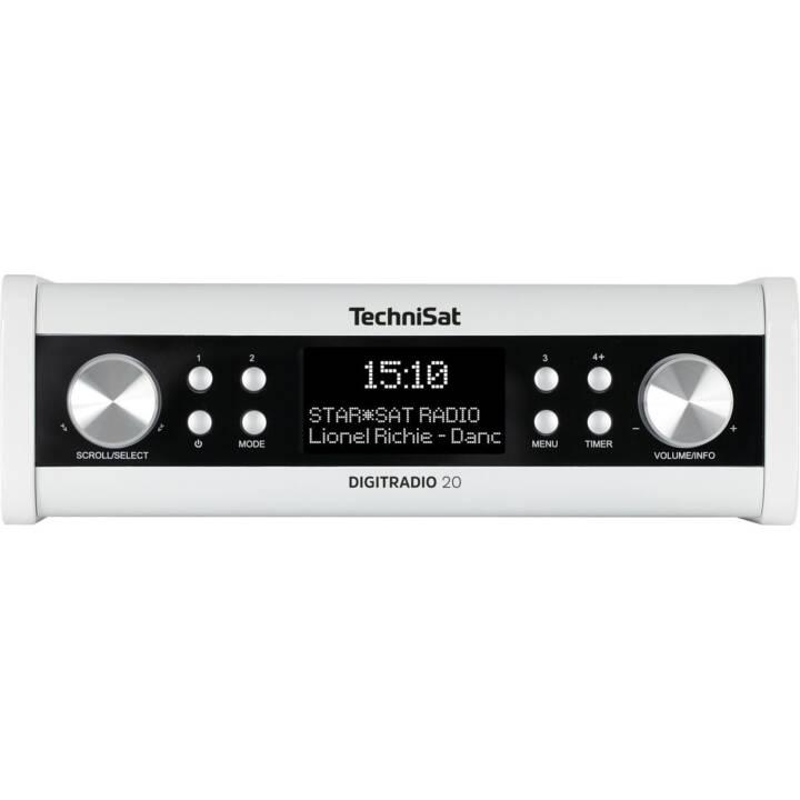 TECHNISAT DigitRadio 20 Radio pour cuisine / -salle de bain (Blanc)