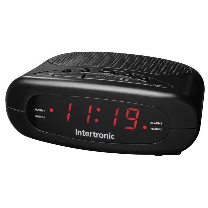 INTERTRONIC CR-1 Radio-réveil (Noir)