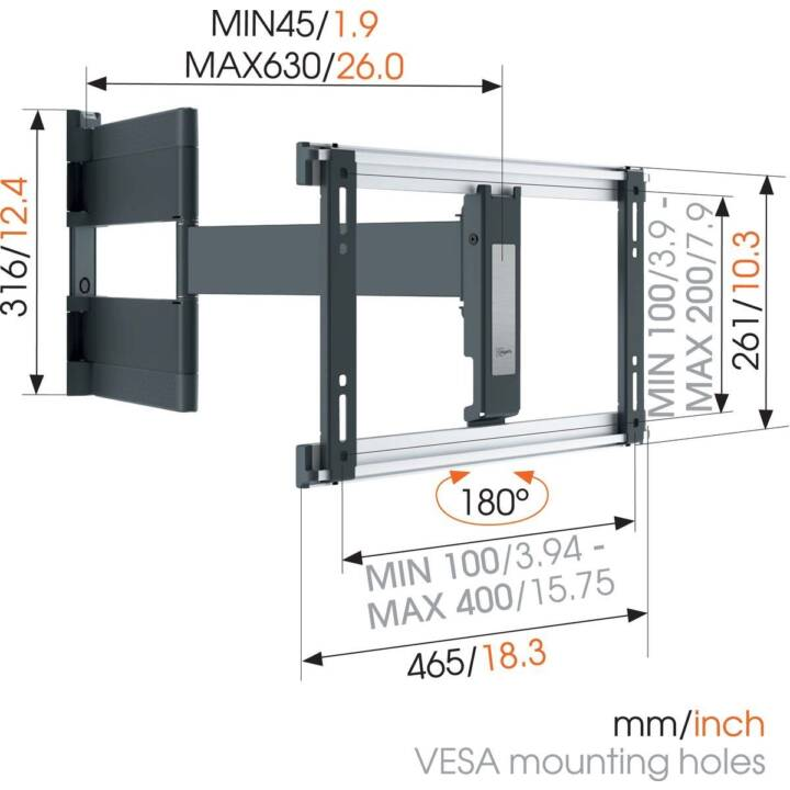 VOGEL'S THIN 546 ExtraThin OLED (Support TV Orientable)