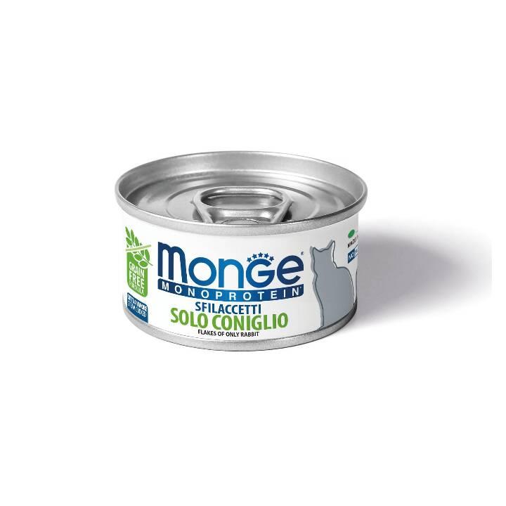 MONGE Alimentation humide (Adulte, 80 g, Lapin)