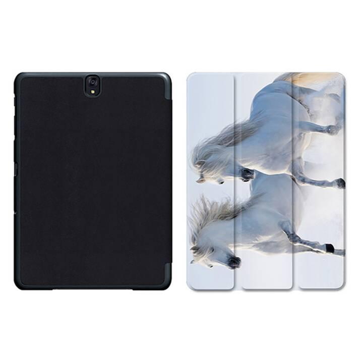 """EG MTT Tablet Tasche mit Smart faltbare Abdeckung für Samsung Galaxy Tab S3 9.7 """"- Pferde"""