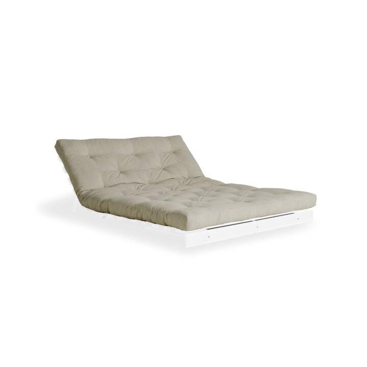 KARUP DESIGN Roots 140 Divano letto (Lino, Cotone, Beige, Bianco, 140 cm x 108 cm)