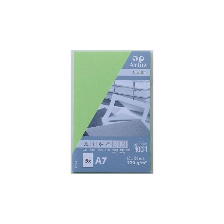 ARTOZ Visitenkarten 1001 A7 Birkengrün - 5 Stück