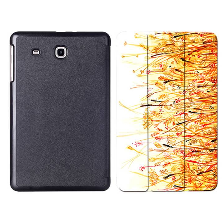 "EG MTT Tablet bag con copertina pieghevole per Samsung Galaxy Tab E 9.6"" - Orange Flowers"