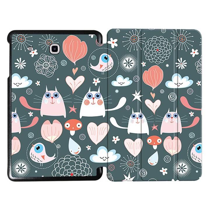 "EG MTT Tablet bag con copertina pieghevole per Samsung Galaxy Tab E 9.6"" - Cartoon Cats"