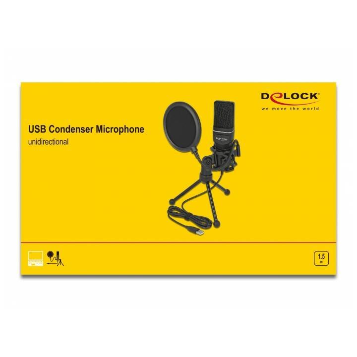 DELOCK 66331 Microphone studio (Noir)