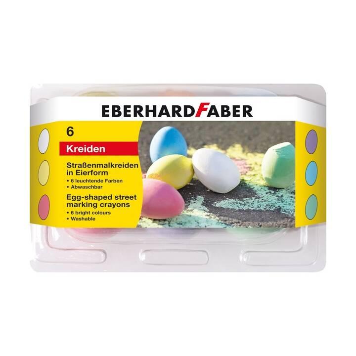 EBERHARD FABER Craie de rue, 6 couleurs
