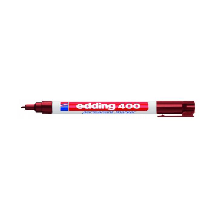 EDDING Marqueur permanent 400 (Brun, 1 pièce)