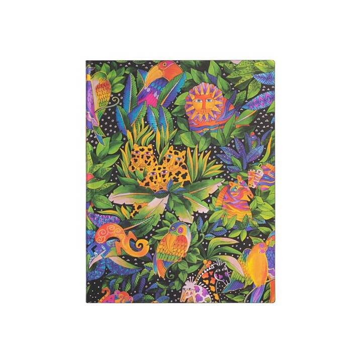 PAPERBLANKS Carnets Jungle Song (180 mm x 230 mm, Ligné)