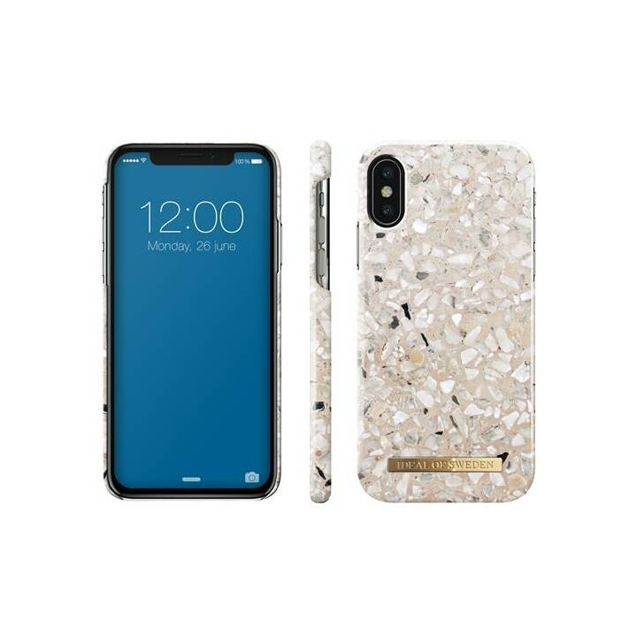 IDEAL OF SWEDEN Backcover Greige Terazzo (iPhone X, iPhone XS, Grigio)