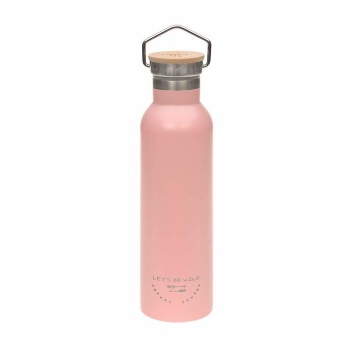 LÄSSIG Trinkflasche Adventure (0.7 l, Rosa)